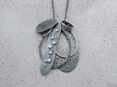 Evie Milo t/a Milomade - Echoes Collection - Flotsam Pendant - Recycled Sterling Silver