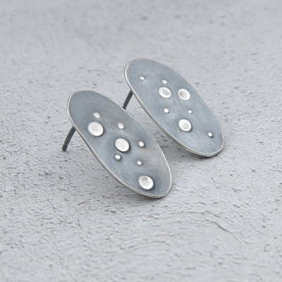 Evie Milo t/a Milomade - Echoes Collection - Urchin Earrings - Recycled Sterling Silver