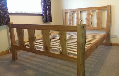 SK Furniture Design - Yew uprights with larch frame